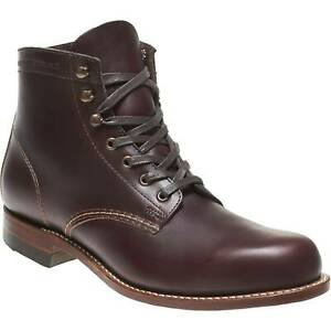 Wolverine-1000-Mile-Men-039-s-Leather-Boots-Cordovan-8-Black-Brown-Rust