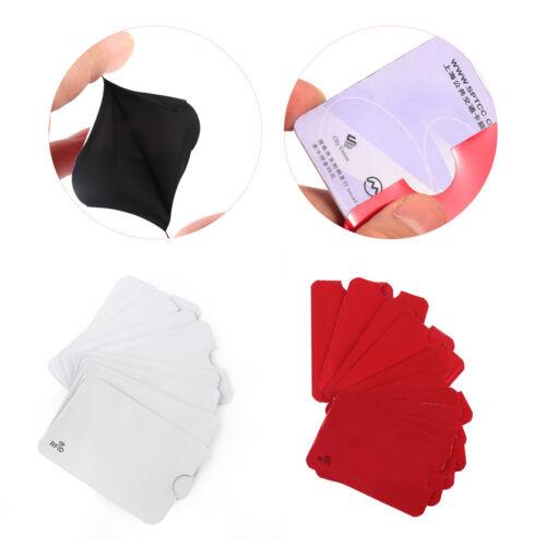 5PCS Anti Theft RFID Credit Card Holder Protector Aluminium Bank Card Cover