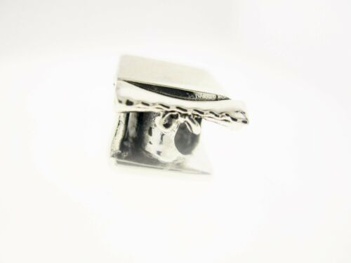 """PERSONA Sterling Silver /""""Graduation Cap/"""" BEAD CHARME 10 x 10 mm"""