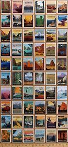 """UU 20/"""" X Panel 44/"""" parques nacionales parques de Viaje EE Explorer De Tela De Algodón D472.38"""