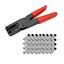 Sat Kompressionszange F Kompressionsstecker 50x Stecker 7-7,5 mm Crimpzange HD