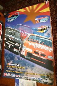 NASCAR-RACING-CHECKER-DURA-LUBE-500-PHOENIX-2000-NEXTEL-PROMOTIONAL-POSTER