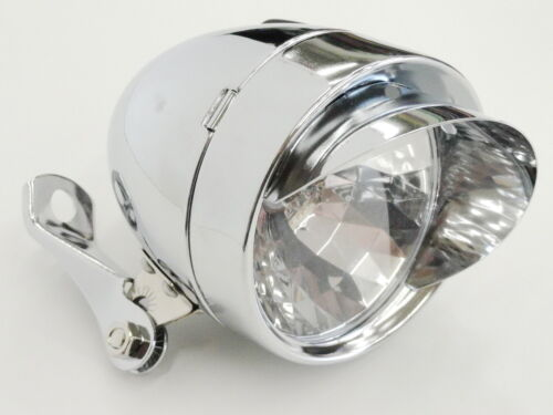 New Silver Classic Vintage Style Bullet Bicycle Light CP Cruiser Low Rider Light