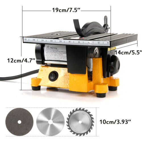 110V 60W 4/'/' MINI ELECTRIC TABLE SAW BENCH TOP GREAT HOBBY CRAFT TABLE SAW USA