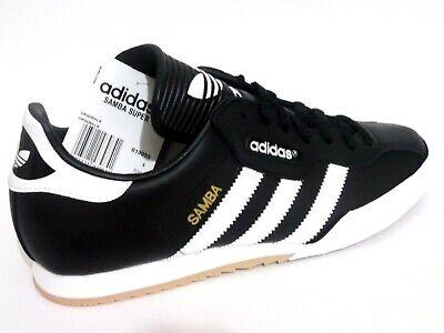 Adidas Samba Super Mens Shoes Trainers Uk Size 8.5 019099 Black Leather | eBay