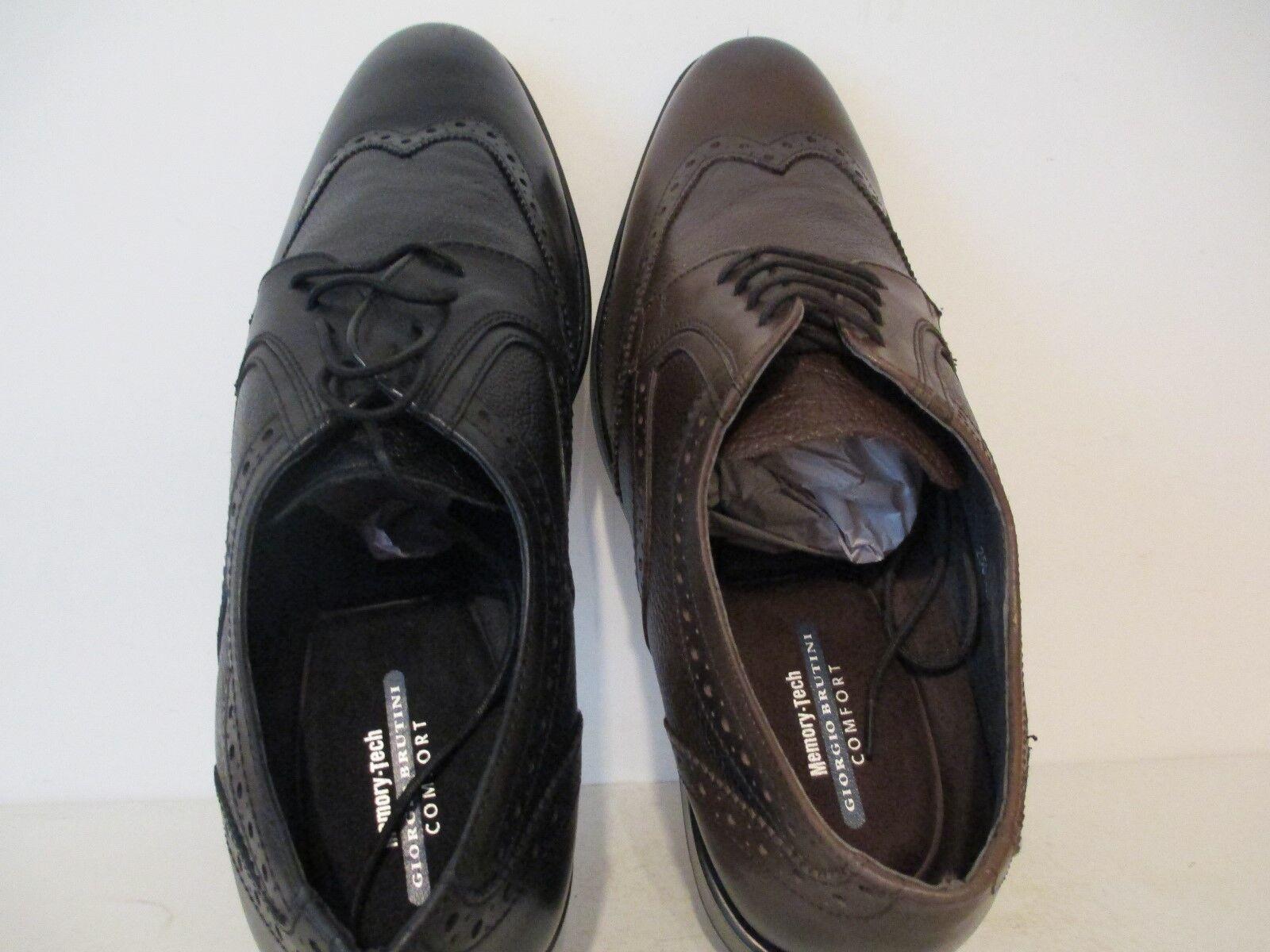 edizione limitata Giorgio Brutini Uomo Anders Leather Wingtip Tuxedo Oxfords nero nero nero Marrone Dimensione 15 M  essere molto richiesto