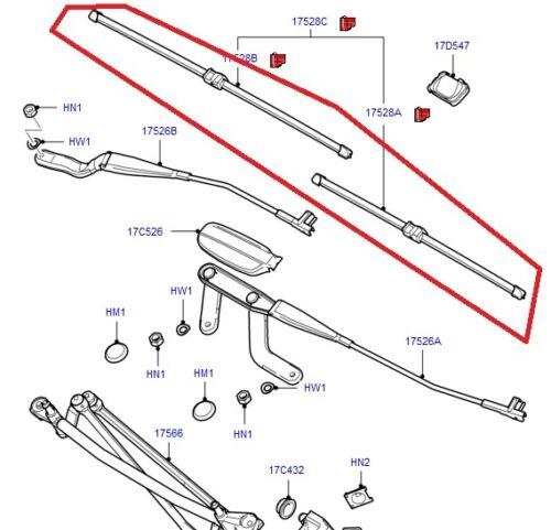 Ford Focus CMAX 2003-2010 kit spazzole tergicristallo anteriori originali1537074