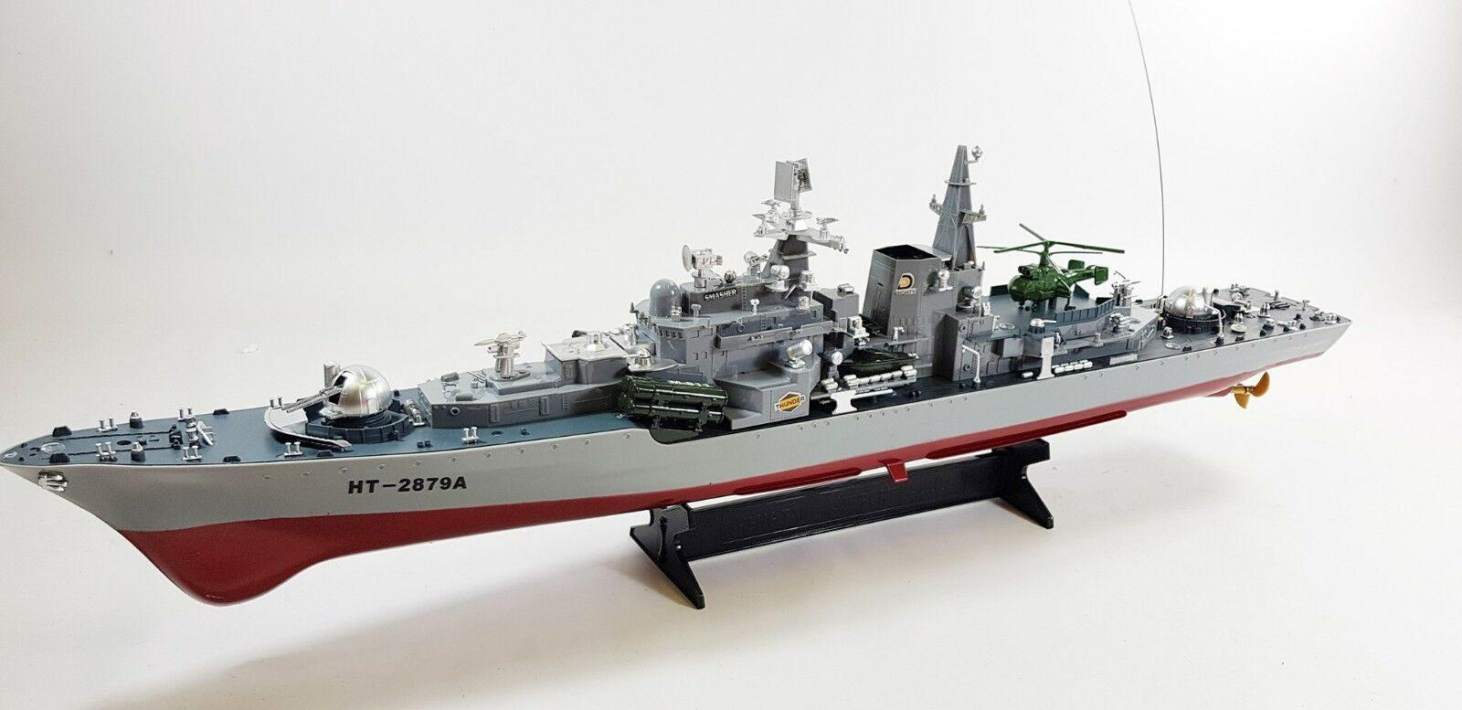 REMOTE CONTROLLED RC MILITARY BATTLE SMASHER DESTROYER MODEL SHIP WAR BOAT
