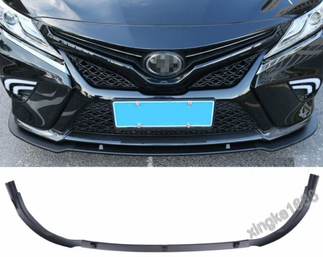 3X ABS Front Bumper Lip Cover Trim Matt Black For Toyota Camry 2018 SE//XSE  NEW