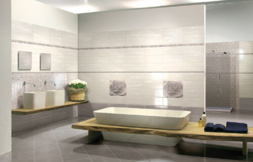 1 Piastrella campione pavimento rivestimento bagno moderno Edonè Tortora Avorio