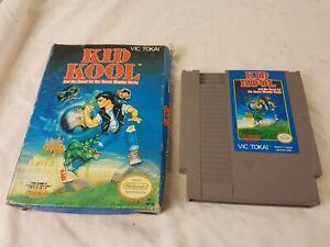 Kid-Kool-Nintendo-NES-Video-Game-Cart-And-Box