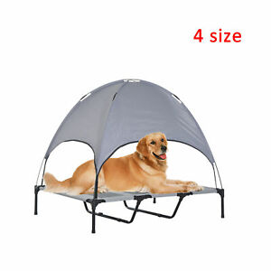 PawHut-Elevated-Pet-Bed-Dog-Foldable-Cot-Tent-Canopy-Instant-Shelter-Outdoor