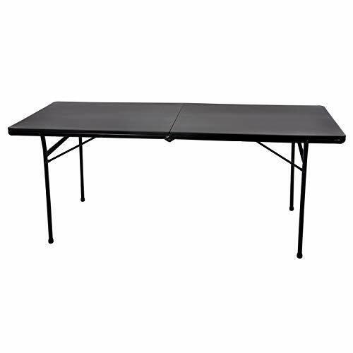Azuma 6ft Heavy Duty Folding Black Trestle Table Max Load 300 Kilogram BBQ