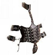 Fetish Bondage Restraint Corset Style Harness Waist Cincher Wrist Cuffs bd-1032