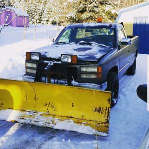 1994 2500 gmc plow truck