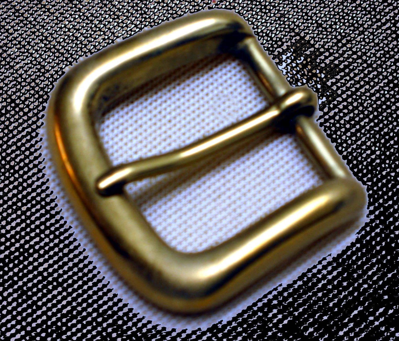 MESSING Gürtelschnalle MASSIV für 3cm breite GÜRTEL Solid Brass GESTEMPELT Neu #