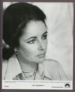 Elizabeth Taylor Portrait 1973 Ash Wednesday Original Vintage Photo J5837