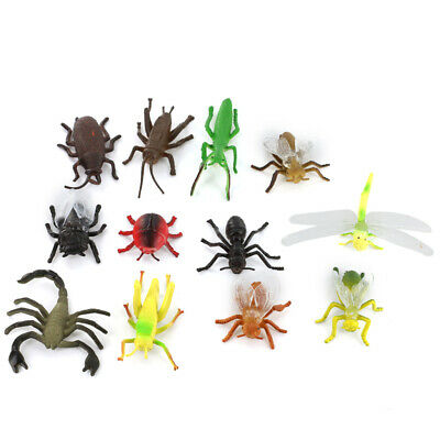 12x Plastic Insect Scorpion Spider Beetles Models Kids Toys Party Bag Favour