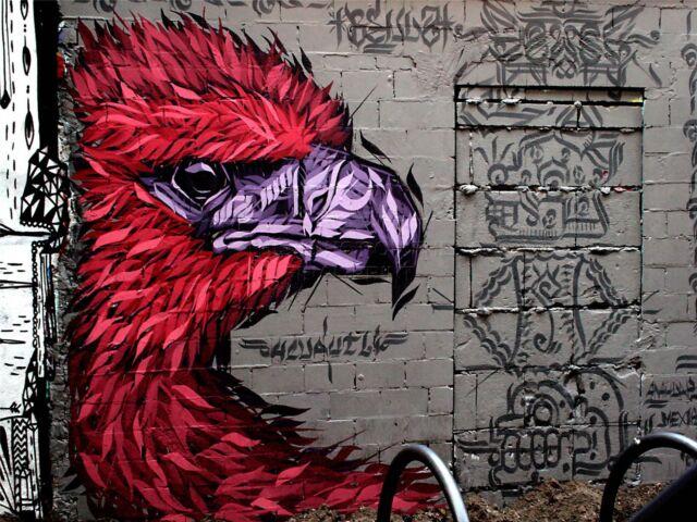 ART PRINT POSTER PHOTO GRAFFITI MURAL STREET BARCODE ROBOT NOFL0150