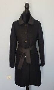 online store 41a53 b9710 Details zu KING LOUIE Damen Mantel Schwarz Wolle Jacke Gr. L ?