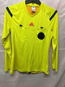Adidas MLS World Cup Soccer Referee Jersey Yellow Long Sleeve Size ...