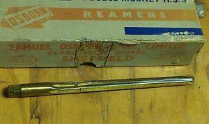 11//32 TEC// SUTTON helical flutes AUSSIE HSS taper pin hand reamer size No.6