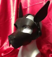 S A L E! WOOF! ALERT EARS Leather puppy hood fetish role play costume mask MR