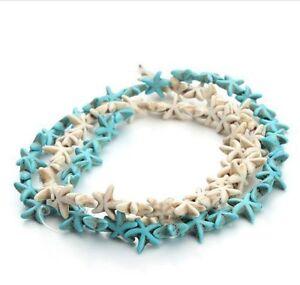 15-30-pcs-white-blue-popular-turquoise-Starfish-charm-spacer-beads-Diy-1-3-1-3cm