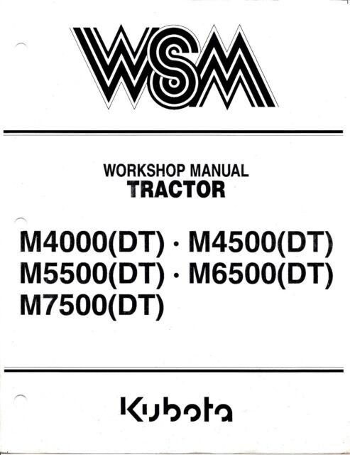 kubota tractor m 4000 m 4500 m 5500 m 6500 m 7500 dt workshop rh ebay com Kubota Owner's Manual Kubota L4060 Operators Manual