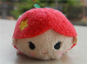 Disney-Store-Authentic-The-Little-Mermaid-Ariel-Tsum-Tsum-4-034-Mini-Plush-Doll-Toy