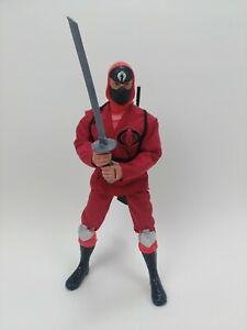 2003-GI-Joe-VS-Cobra-Red-Ninja-Viper-12-034-Action-Figure-RARE-HTF-1-6-Scale-G-I