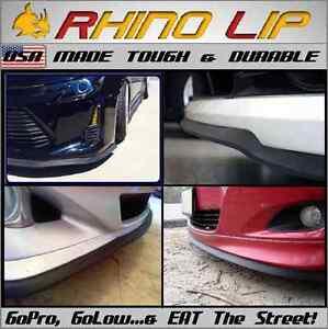 Honda Jdm Hrc Gtr Universal Front Rubber Chin Lip Air Dam Under Spoiler Splitter Ebay