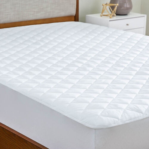 Microfiber Matress Pad Deep Pocket Fitted Skirt Quilted Cover Down Alternative