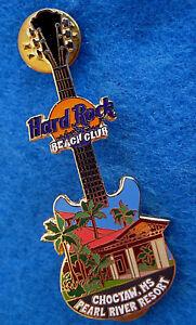 Choctaw-Spiaggia-Club-Facciata-Chitarra-Serie-Perle-Fiume-Resort-Rigida-Rock-Pin