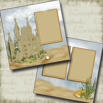 EZ Layout 2089 FOREST GIRL 2 Premade Scrapbook Pages