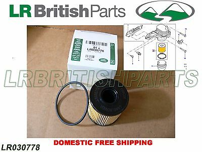 GENUINE LAND ROVER OIL FILTER LR2 RANGE ROVER EVOQUE DISCOVERY SPORT DEFENDER DIESEL 2.2L NEW LR030778
