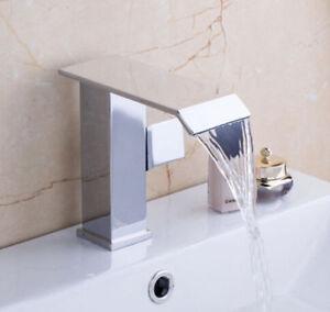 Image Is Loading Waterfall Bathroom Sink Basin Tap Mixer Faucet Single