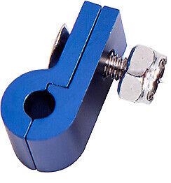 "Aeroflow AF157-03 Billet P Style Clamp 3/16 Line Blue 4.7mm ID or 3/16"" ID"