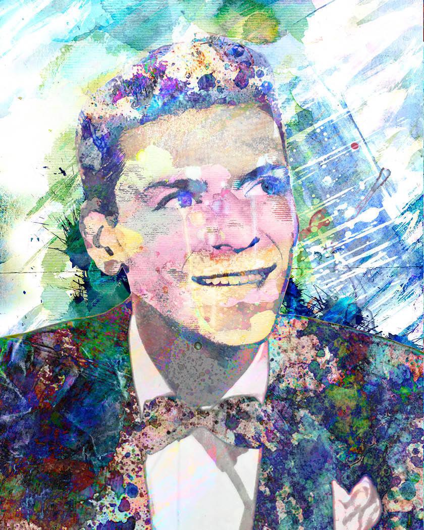 Frank Sinatra Art Print, Rat Pack Canvas, Sinatra Painting