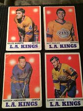 (4) 1970-71 OPC Lot Of 4 Labossiere/Marotte/Cahan/Ravlich  L.A Kings