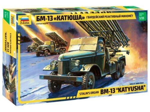 Zvezda 3521 Soviet Rocket Launcher BM-13 Katyusha Plastic kit 1:35 New