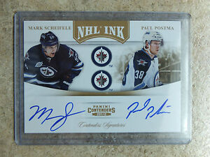 11-12-Panini-Contenders-NHL-Ink-Dual-Gold-11-MARK-SCHEIFELE-PAUL-POSTMA-25