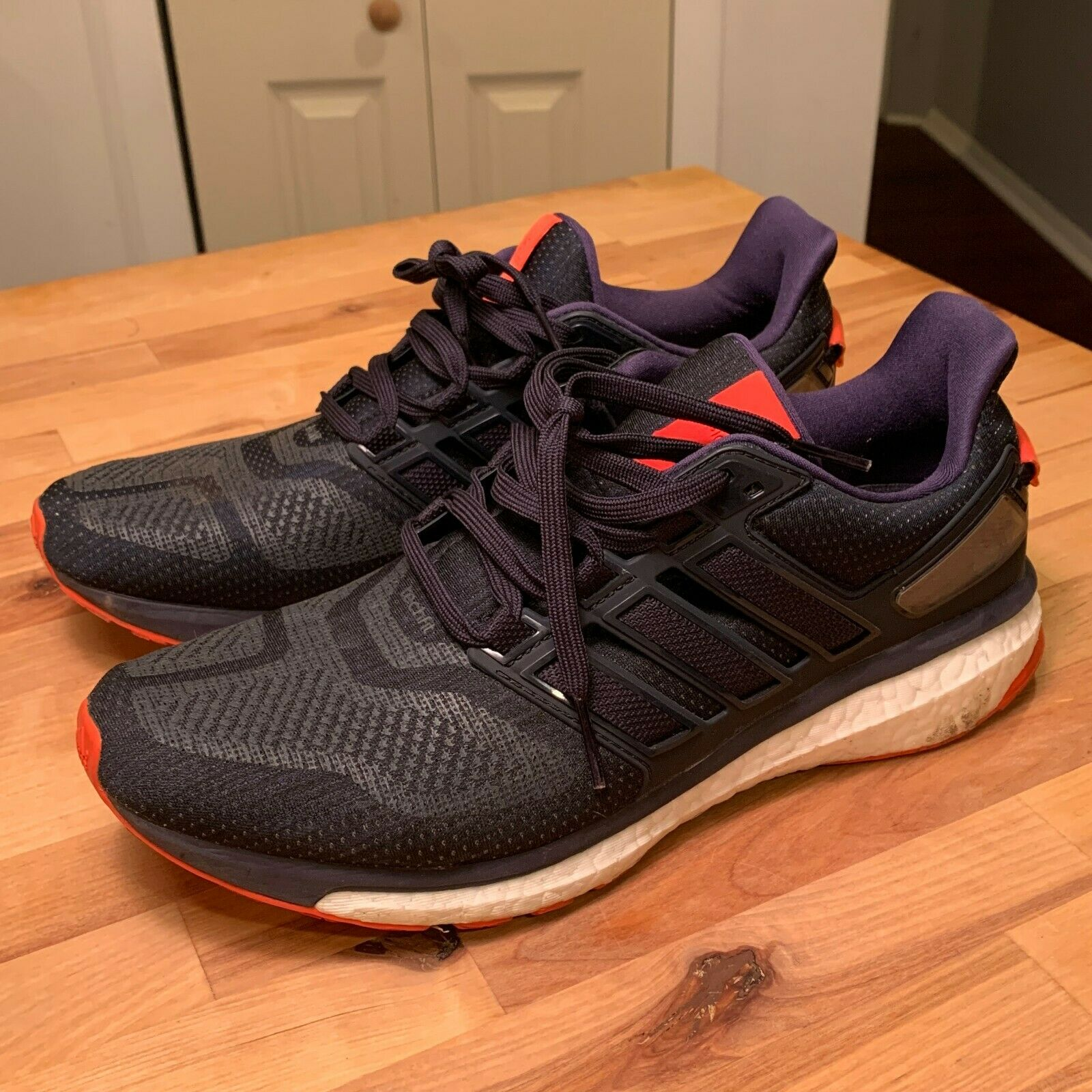 Adidas mens Energy Boost 3 m Navy Orange size 10.5 BB5786