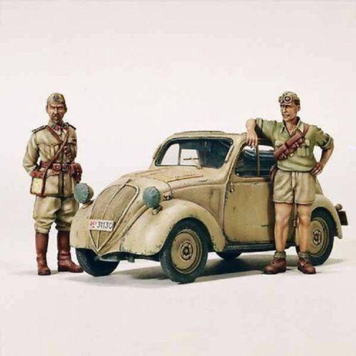 """MODEL VICTORIA FIAT 500 A /""""TOPOLINO/"""" WWII NORTH AFRICA Scala 1:35 Cod.4073"""