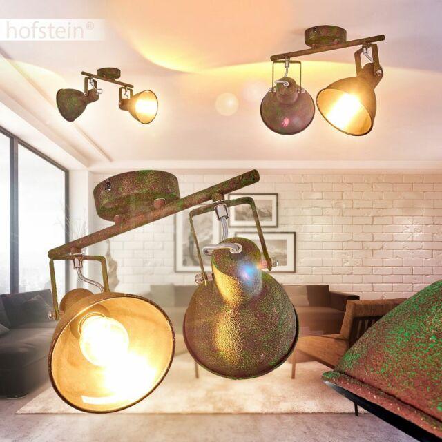 Decken Leuchte rostbraun Flur Strahler Wohn Zimmer Lampe Retro Vintage Industrie