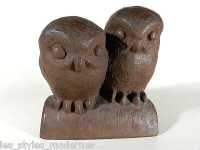 ART DECO Keramik Figur ° Eule ° Käuze nach August Gaul ° modelliertes