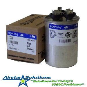 GE 4 uf 370 VAC • Round Dual Run Capacitor • C3304R • 97F9836 Genteq • 30