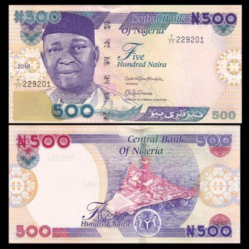 Nigeria 500 Naira UNC P-30 NEW 2016