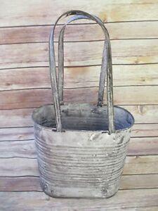 Pot De Plantation En Métal Avec Anses Grand-afficher Le Titre D'origine