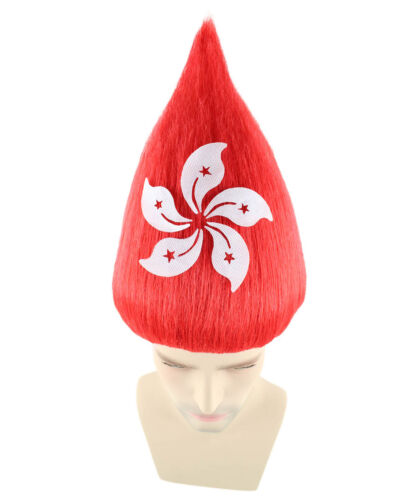 16 Different Countries National Team Flag Troll Wig Cheering Matches Unisex